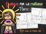 Spanish morning work/Trabajo por la mañana-Kinder V1