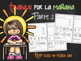 Trabajo por la mañana V2-Kinder reading morning work spanish