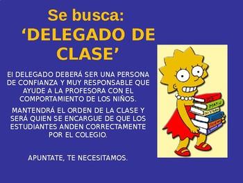 Trabajos en la clase de español