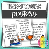 Trabalenguas - 12 Tongue Twister Posters in Spanish