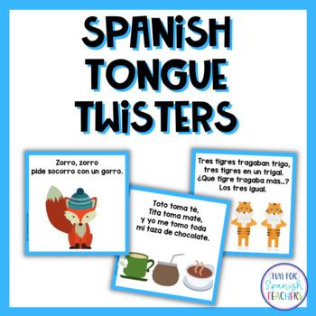 Trabalenguas / Spanish Tongue Twisters {Freebie}
