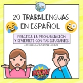 Trabalenguas Spanish Tongue Twisters Digital cards Boom Cards