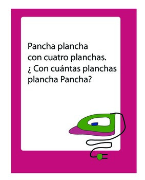 Trabalenguas tongue twister posters español