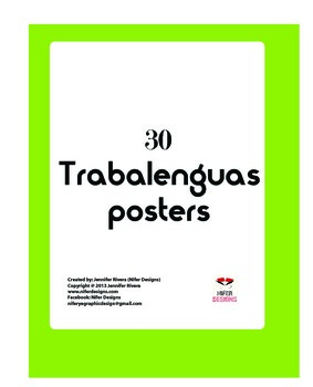 Trabalenguas tongue twister posters español