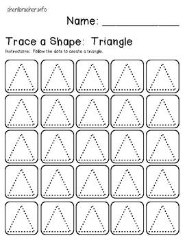 Trace A Shape Basics Prek-K EXTRA SMALL Pack