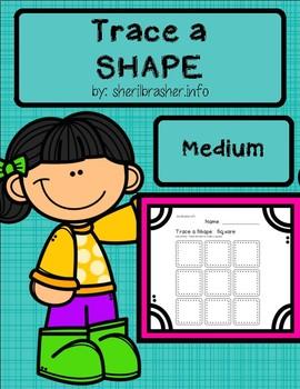 Trace A Shape Basics Prek-K MEDIUM Pack