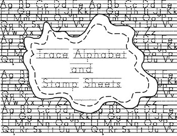 Trace Alphabet and Stamp Sheets