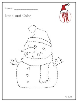 Trace And Color - Snowman for Christmas