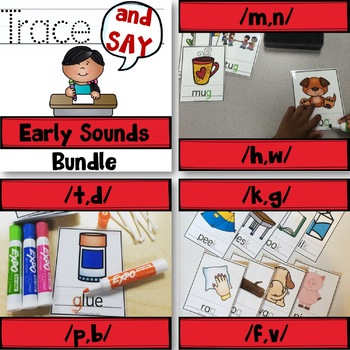 Trace And Say: Early Sounds Articulation BUNDLE