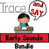 Trace And Say Task Cards: Early Sounds Articulation BUNDLE