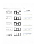 Trace-Box and Write Worksheet