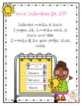 Trace Calendar for 2019