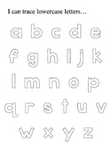 Trace Capital and Lowercase Alphabet Letters