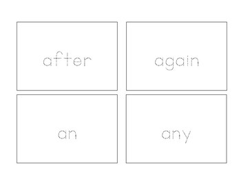 Trace Cards - First Grade Sight Words