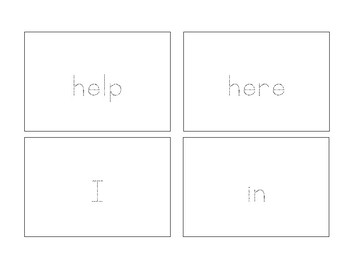 Trace Cards - Pre-Primer Sight Words