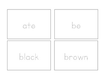Trace Cards - Primer Sight Words