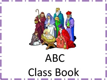 Christmas ABC Class Book With Trace Words