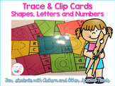Trace & Clip Cards - Shapes, Numbers and Letters