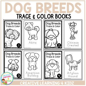 Trace & Color Books: Dog Breeds