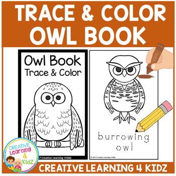 Trace & Color Book: Owl