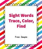Trace, Color, Find Sight Words Worksheet