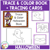 Trace & Color Halloween Book + Tracing Cards Fine Motor Skills