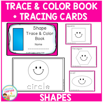 Trace & Color Shape Book + Tracing Cards Fine Motor Skills