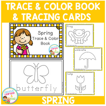 Trace & Color Spring Book + Tracing Cards Fine Motor Skills