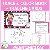 Trace & Color Valentine's Day Book + Tracing Cards Fine Motor Skills