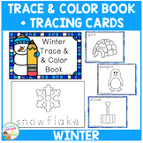 Trace & Color Winter Book + Tracing Cards Fine Motor Skills