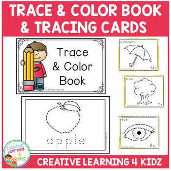 Trace & Color Book + Tracing Cards Fine Motor Skills