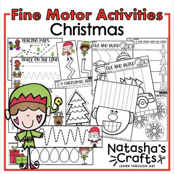 Trace. Cut. Christmas / Fine Motor
