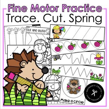 Trace. Cut. Spring Fine Motor Activities