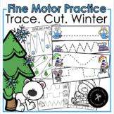 Trace. Cut. Winter Fine Motor Practice