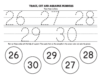 Trace, Cut and Arrange the Numbers