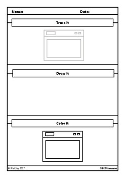Trace, Draw, Color Appliances Worksheets, Art, How to Draw