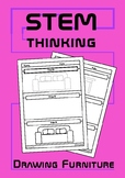 Trace, Draw, Color Furniture Worksheets, Art