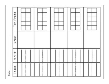 Trace, Draw, Make and Show Numbers