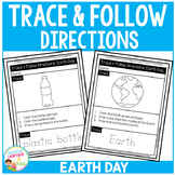 Trace & Follow Directions Worksheets: Earth Day