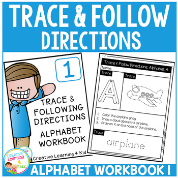Trace & Following Directions ALPHABET Workbooks Bundle