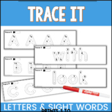 Trace It Alphabet and Sight Word Fine Motor Skills Activities