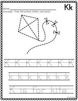 Trace It! {Letter and Picture Tracing Pages}