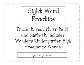 Trace It, Read It, Write It, Paste It Sight Words
