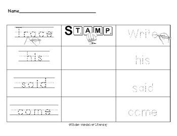Trace It-Stamp It-Write It