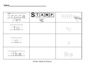 Trace It-Stamp It-Write It Gumball Sight Words