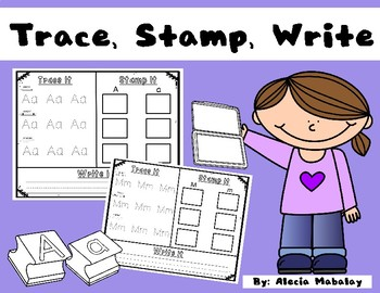 Trace It, Stamp It, Write It: Letters from A-Z