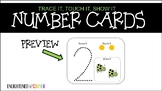 Number Cards 1-10- Trace It, Touch It, Show It