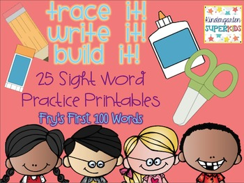 Trace It, Write It, Build It: Sight Word Practice Pages [Fry's First 100 Words]