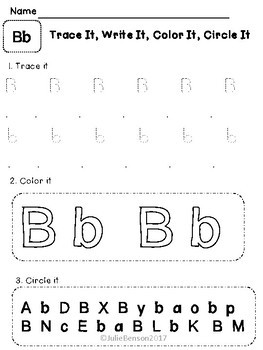 Trace It, Write It, Color It, Circle It: Alphabet Edition