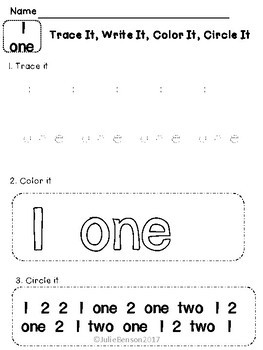 Trace It, Write It, Color It, Circle It: Numbers Edition